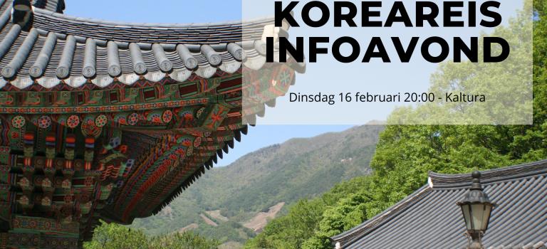 Koreareis Infoavond